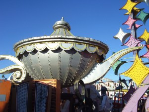 One of the lamps from the Aladdin Hotel & Casino