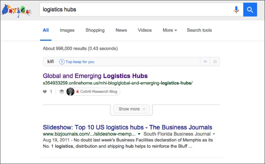 Logistics hubs